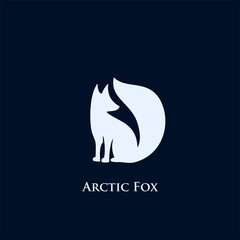 Arctic fox logo symbol - vector illustration