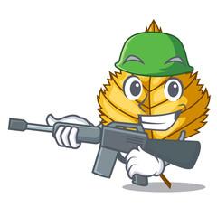 Army birch leaf in the mascot shape