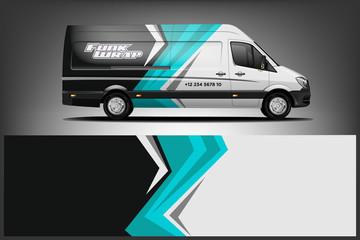 Fototapete - Van Wrap Livery design. Ready print wrap design for Van. - Vector