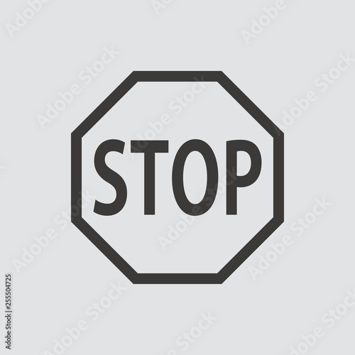 Blank Stop Sign icon  Vector illustration