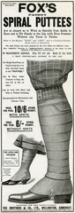 Advertisement for Foxs Puttees Stockings 1903
