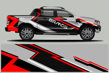 Truck Wrap design for company  decal  wrap  and sticker.  vector