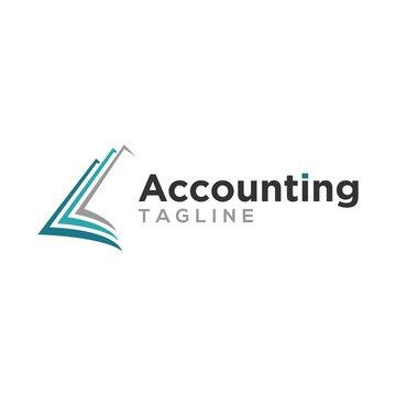 accounting, finance, logo design vector