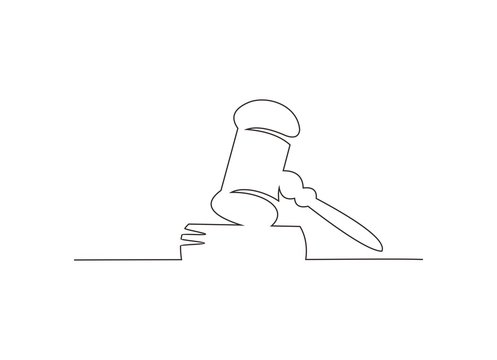 continuous line drawing of law firm vector