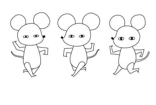 シンプルなネズミの年賀状