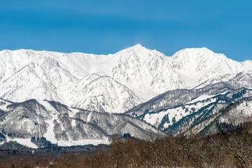 長野県白馬村 雪山の雪景色
