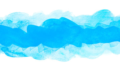 watercolor blue with paper texture. paint on paper.