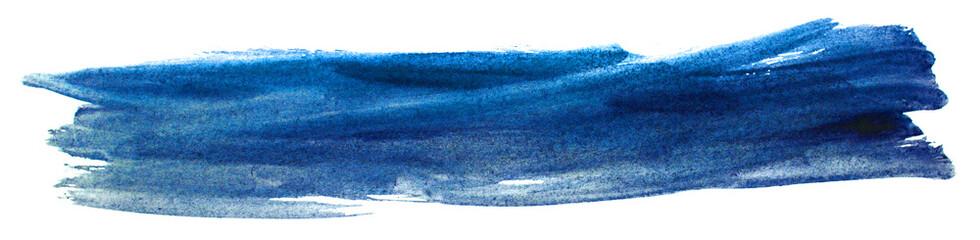 Fototapeta watercolor blue with paper texture. paint on paper. obraz
