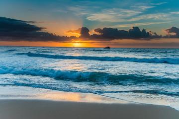Bright and Blue Sunrise Seascape