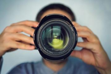 Portrait of a stylish photographer
