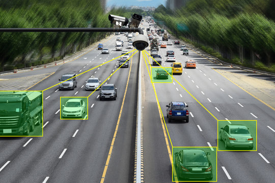 Camera that controls speeding cars and speeding on the road.