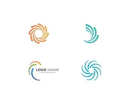Business logo, vortex, circle and spiral icon