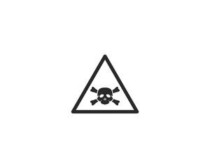 Warning icon vector