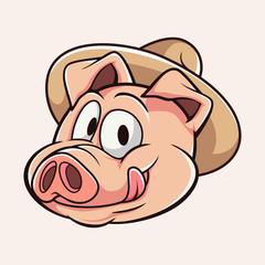 Funny Cute Pig