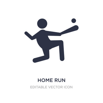 home run icon on white background. Simple element illustration from Sports concept.