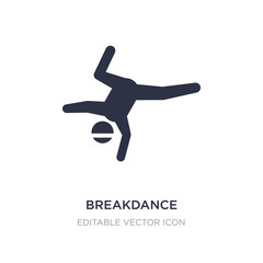 breakdance icon on white background. Simple element illustration from Sports concept.
