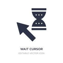 wait cursor icon on white background. Simple element illustration from UI concept.