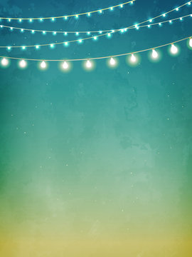 Decorative holiday lights background