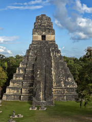 Pyramid of the Jaguar in the national most important Mayan city of Tikal Park, Guatemala