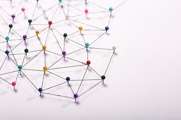Linking entities. Network, networking, social media, internet co Wall mural