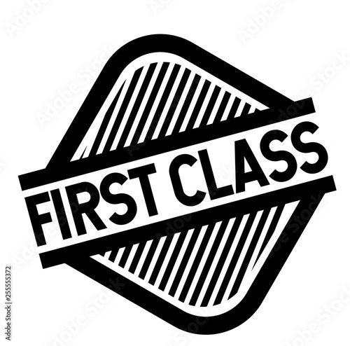 First Class stamp on white