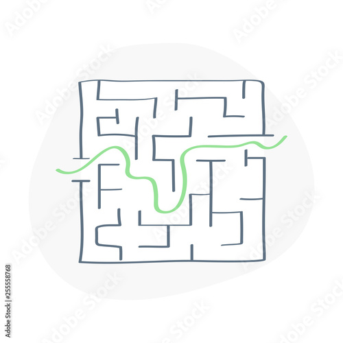 The Maze, labyrinth with one entrance, one exit and one