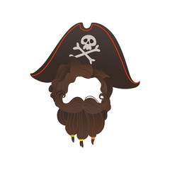 Vector pirate beard photo booth prop costume
