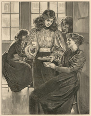 Presenting a Woman with Milk and Cakes