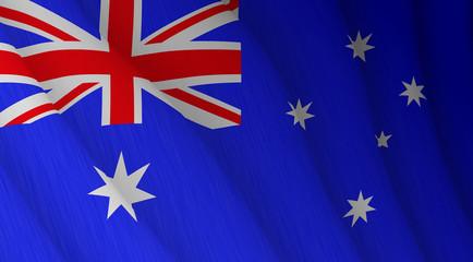 Illustration of a flying Australian flag