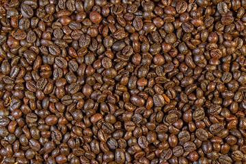 In de dag Koffiebonen fondo de granos de café
