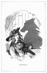 Shadow DrawingC HBennett, Equestrian