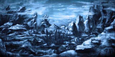 Idyllic and dreamy environment scenery - Digital Painting