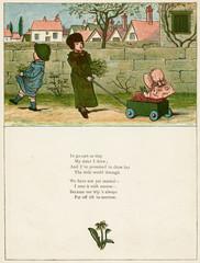 Three Children with a Go Cart