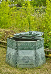 Les Mureaux; France - may 13 2011: compost bin