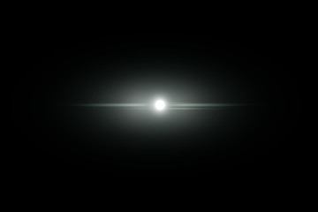 Abstract lens flare light over dark background