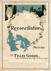 Sheet Music Cover, Reconciliation by Felix Godin