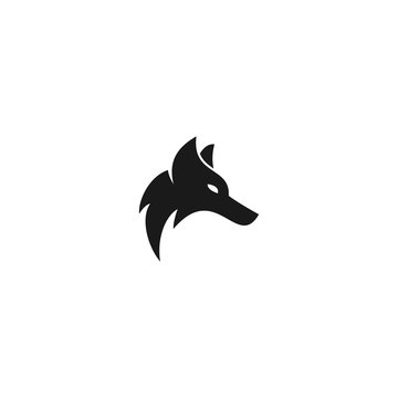shiny masculine abstract alpha wolf head electronic gaming vector logo design
