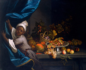 A Young Moor with A Still Life of Fruit, by TobiAs StrAnover