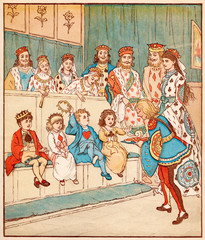 Nursery, Rhyme, the Queen of Hearts, Caldecott, 7 of 8