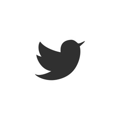 Bird icon in simple design. Vector illustration