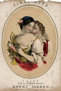 Music Cover, First Love, Valse by Henry Farmer
