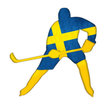 Ice hockey Sweeden illustration concept