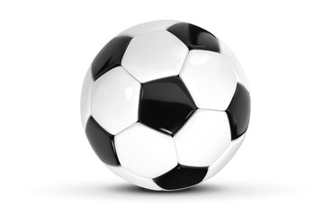 Realistic soccer ball or football ball on white background. 3d Style vector Ball isolated on white background. EPS10