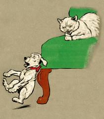 Illustration by Cecil Aldin, Pickles