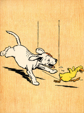 Illustration by Cecil Aldin, Farm Babies