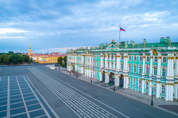 Saint Petersburg. Panorama of the Palace Square. Museums in St. Petersburg. Travel to Russia. Cities of Russia. Hermitage in St. Petersburg. Hermitage. The architecture of the city center.