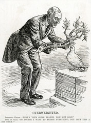 Ww1 President Wilson Woodrow and the Dove of Peace