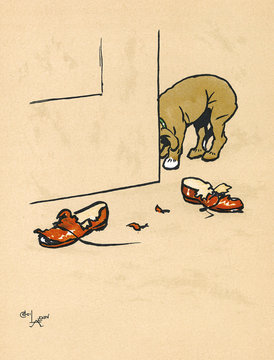 Mongrel Puppy Ruins a Pair of His Masters Shoes