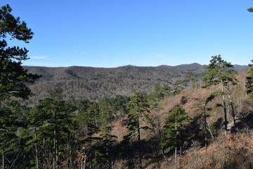 Ouachita Mountains in Ouachita National Forest Arkansas
