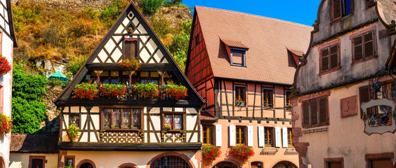 Fototapete - Kaysersberg  - one of the most beautiful villages of France, Alsace